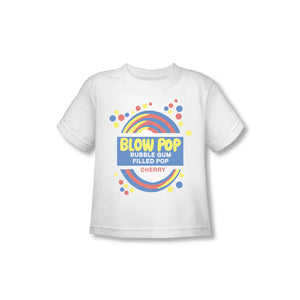 Blow Pop Label (White) Toddler Tee - TootsieShop.com