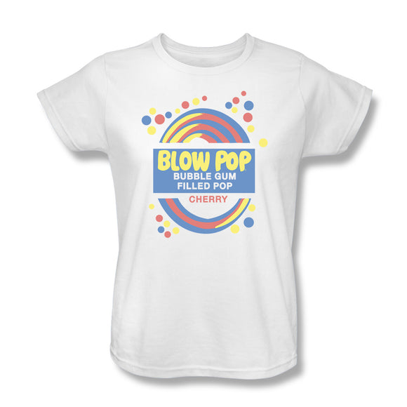 Blow Pop Label (White) Women's Tee - TootsieShop.com
