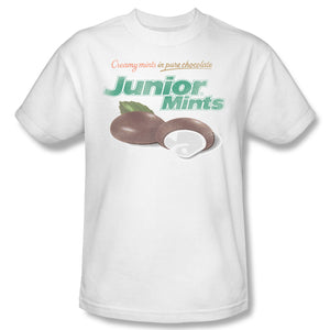 Junior Mints Logo (White) T-Shirt - TootsieShop.com
