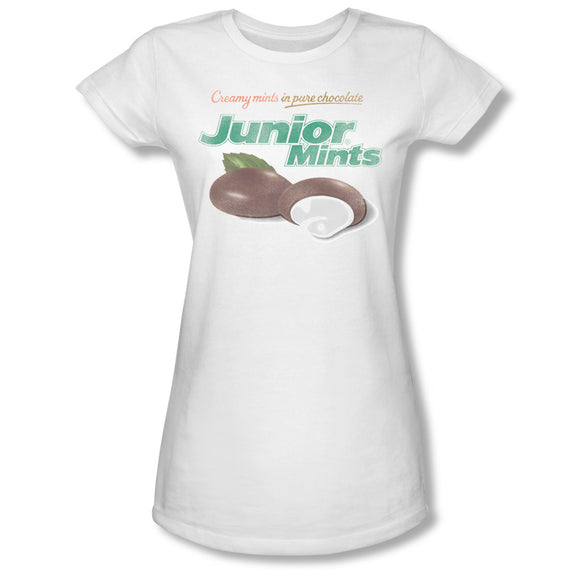 Junior Mints Logo (White) Junior Tee - TootsieShop.com