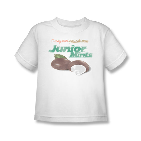 Junior Mints Logo (White) Kids Tee - TootsieShop.com