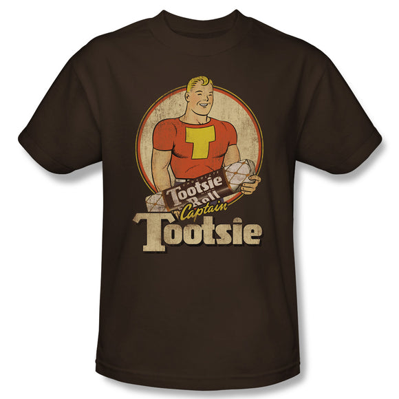 Captain Tootsie (Coffee) T-Shirt - TootsieShop.com