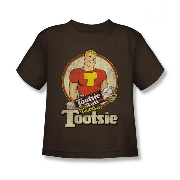 Captain Tootsie (Coffee) Kids Tee - TootsieShop.com