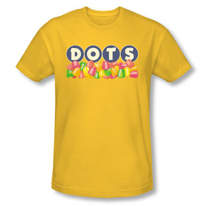 Dots Logo (Yellow) Slim Fit Tee - TootsieShop.com