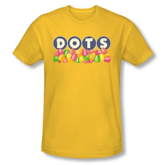 Dots Logo (Yellow) Slim Fit Tee