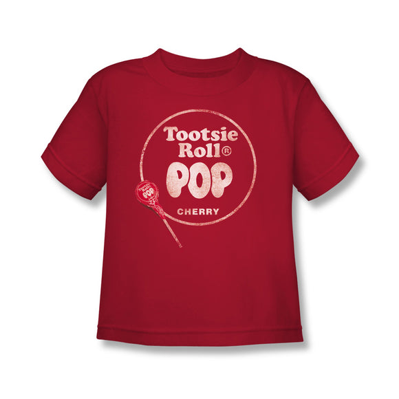 Tootsie Roll Pop Logo (Red) Kids Tee - TootsieShop.com