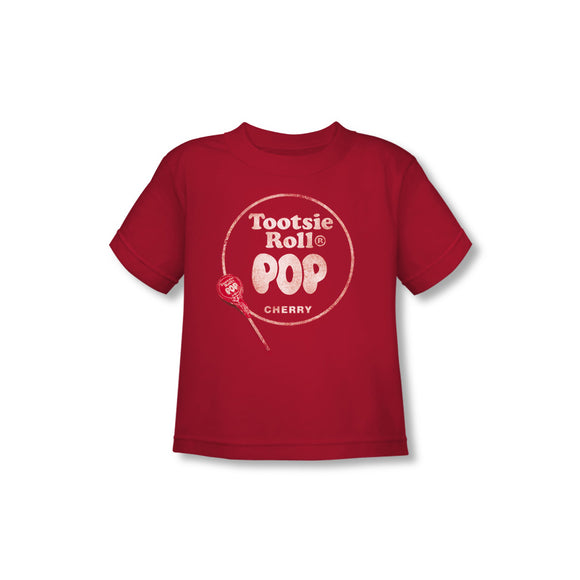 Tootsie Roll Pop Logo (Red) Toddler Tee - TootsieShop.com