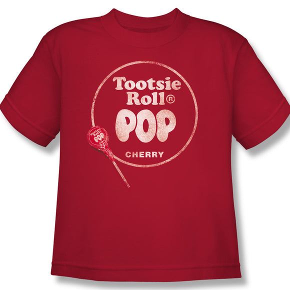 Tootsie Roll Pop Logo (Red) Youth Tee - TootsieShop.com