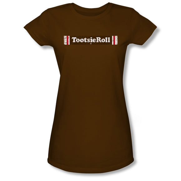 Tootsie Roll Logo (Coffee) Junior Tee - TootsieShop.com