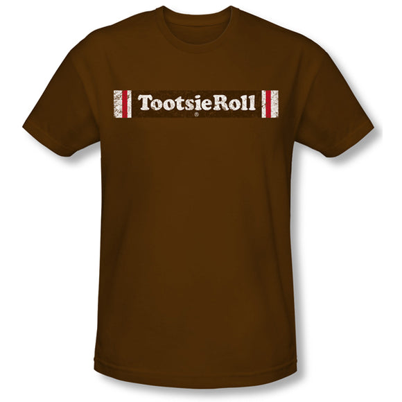 Tootsie Roll Logo (Coffee) Slim Fit Tee - TootsieShop.com
