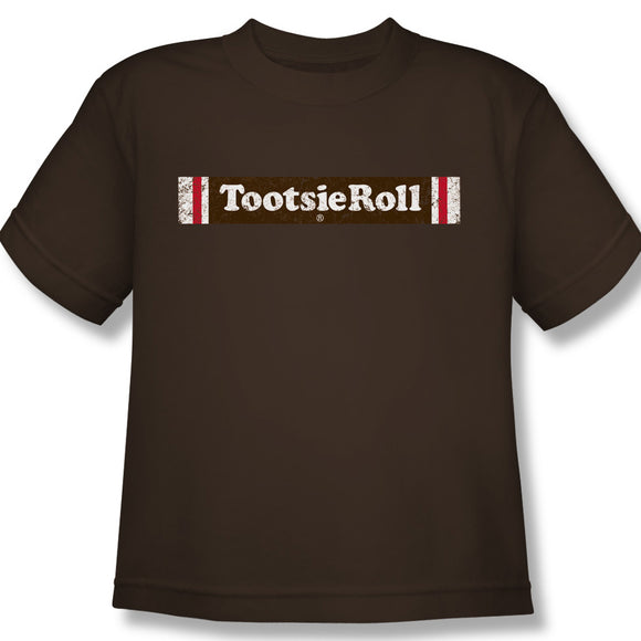 Tootsie Roll Logo (Coffee) Youth Tee - TootsieShop.com
