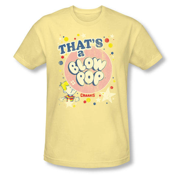 That's A Blow Pop (Banana) Slim Fit Tee - TootsieShop.com
