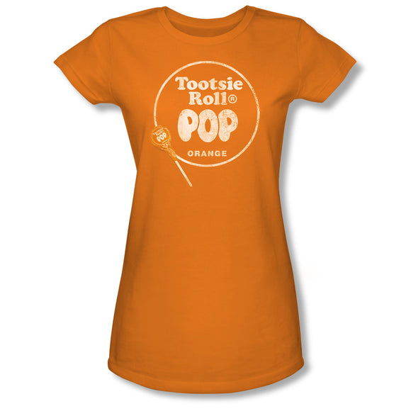 Pop Logo (Orange) Junior Tee - TootsieShop.com