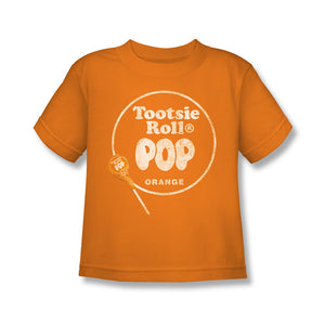 Pop Logo (Orange) Kids Tee - TootsieShop.com