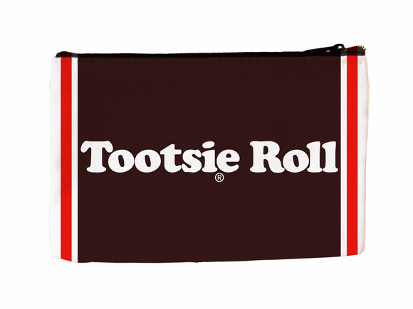 Tootsie Roll Faux Suede Cosmetic Case