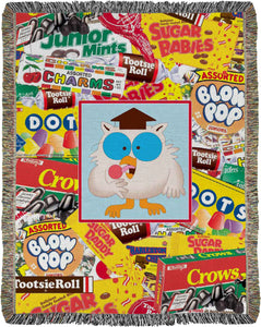 Tootsie Labels / Mr Owl Woven Throw - TootsieShop.com