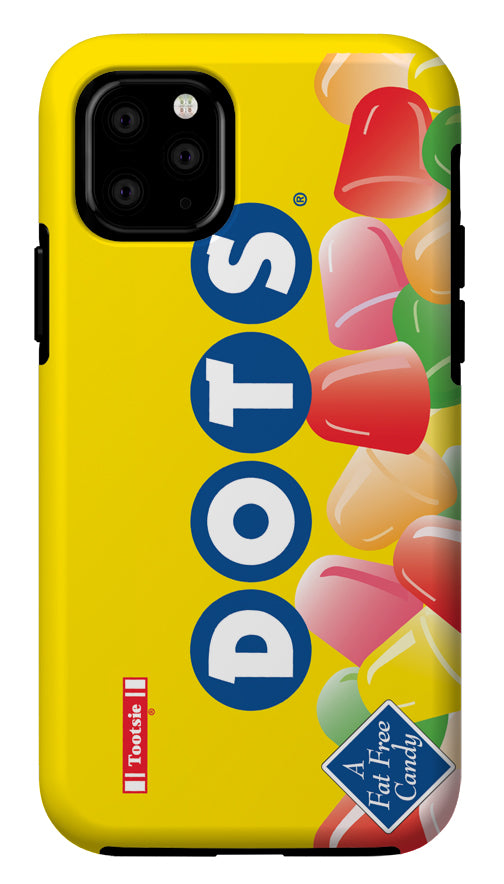 Dots Yellow Background iPhone Case