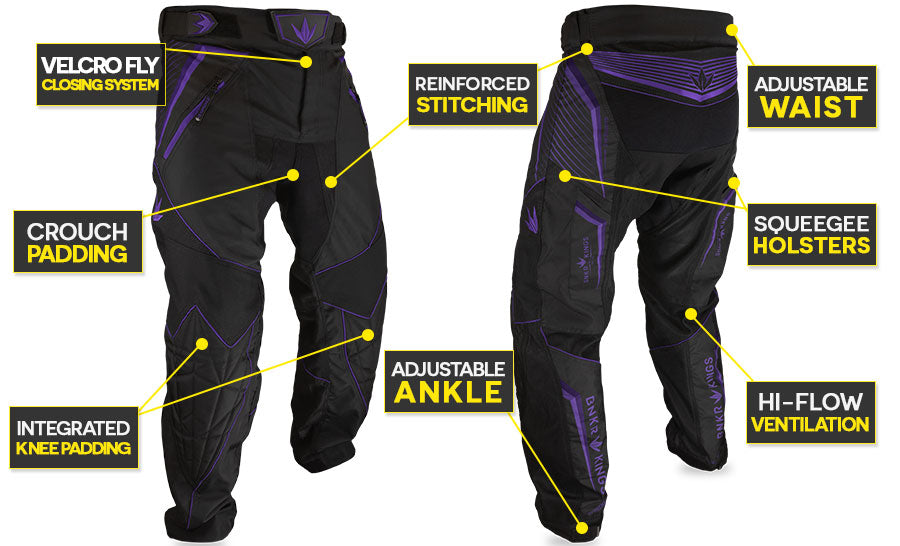 Bunker Kings Supreme Pants V2 Purple Features