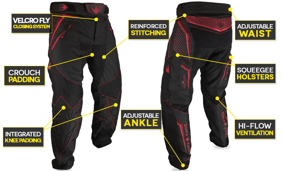 Bunker Kings Supreme Pants V2 Red Features
