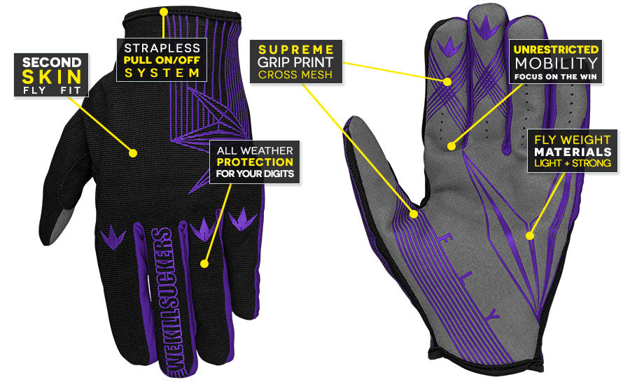 Feature Call-Out Fly Glove Purple