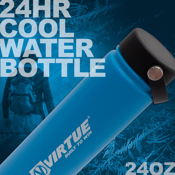 Virtue Stainless Steel 24Hr Cool Water Bottle - 710ml - Blue