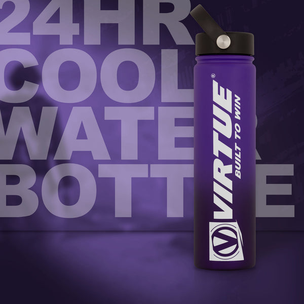 Virtue Stainless Steel 24Hr Cool Water Bottle - 710ml - Purple