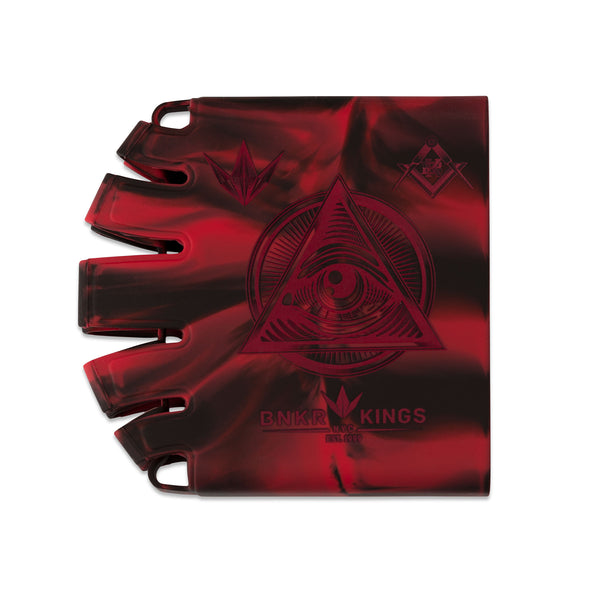 Bunkerkings - Knuckle Butt Tank Cover - Conspiracy - Red