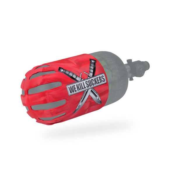 Bunkerkings - Knuckle Butt Tank Cover - WKS Knife - Red