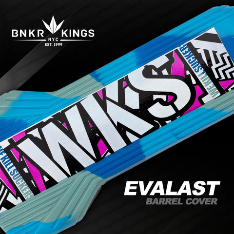 Bunkerkings - Evalast Barrel Cover - Shred - Cyan