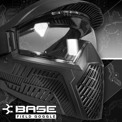 Base Single Anti-Fog Field Paintball Goggle - Black