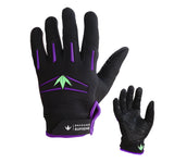 zzz - Bunkerkings Supreme Gloves / Paintball Gloves - Purple/Lime