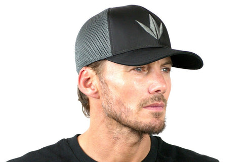 Bunkerkings Fitted Flex Crown Cap - Mesh Black