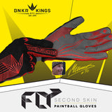 zzz - Bunkerkings Fly Paintball Gloves - Red