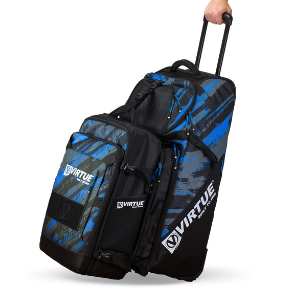 zzz - Virtue Gambler Expanding Gear Backpack - Graphic Cyan