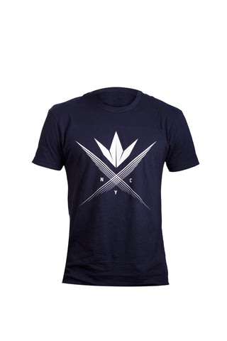 zzz - BK Cross T Shirt - Navy - 2XL