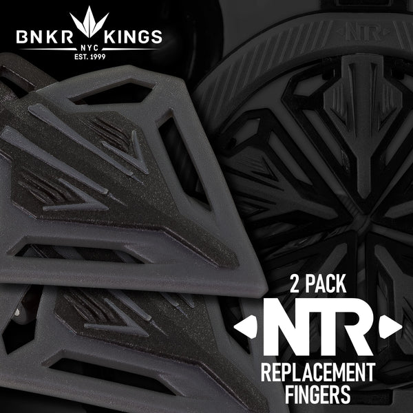 2x Bunkerkings NTR Replacement Fingers - CTRL/Spire III/IR/280 - Black