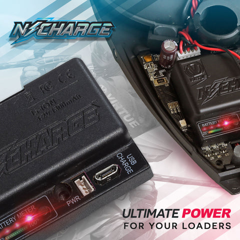 VIRTUE Paintball N-Charge Lithium Ion Battery Pack - Fits all Spires & Rotors