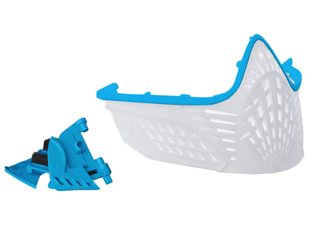 VIO Extend Face Mask - Cyan / White