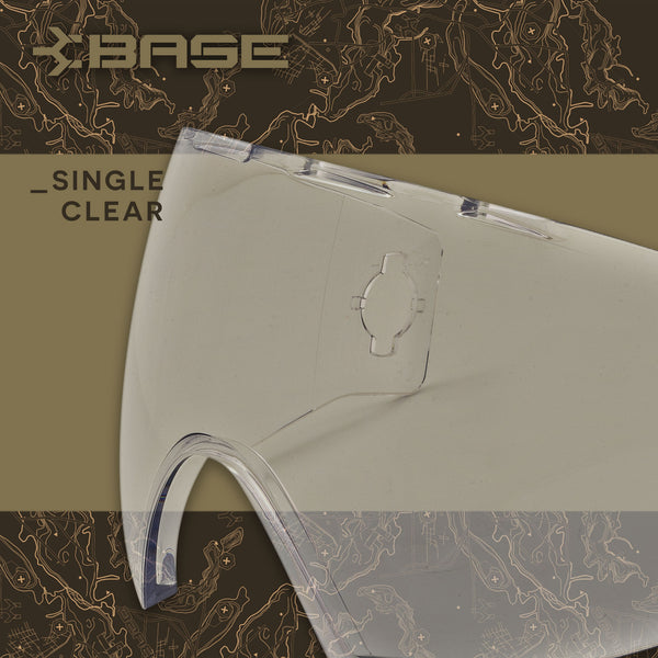Base Replacement Lens - Antifog Single Pane Clear