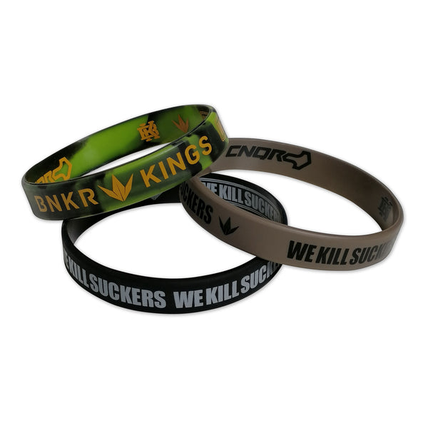 Bunkerkings Wristbands (3-Pack) - Black/Tan/Olive