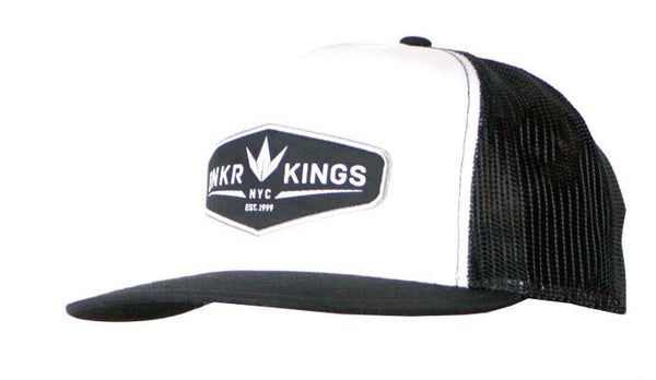 BK Trucker Crown patch Cap - Black/White