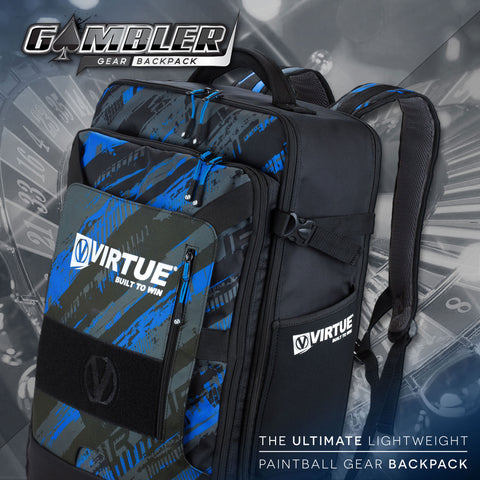 Virtue Gambler Expanding Gear Backpack - Graphic Cyan