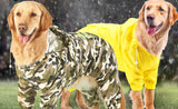 Comouflage----Yellow---Green Raincoat- medium to Large Breed
