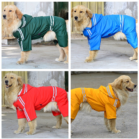 Rain Coat- Red/ Yellow / Dark Green-Small & Large Breed