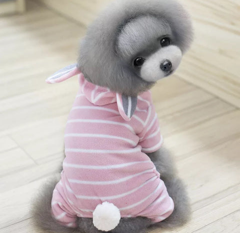 Bunny Pink Stripes Dog Outfit