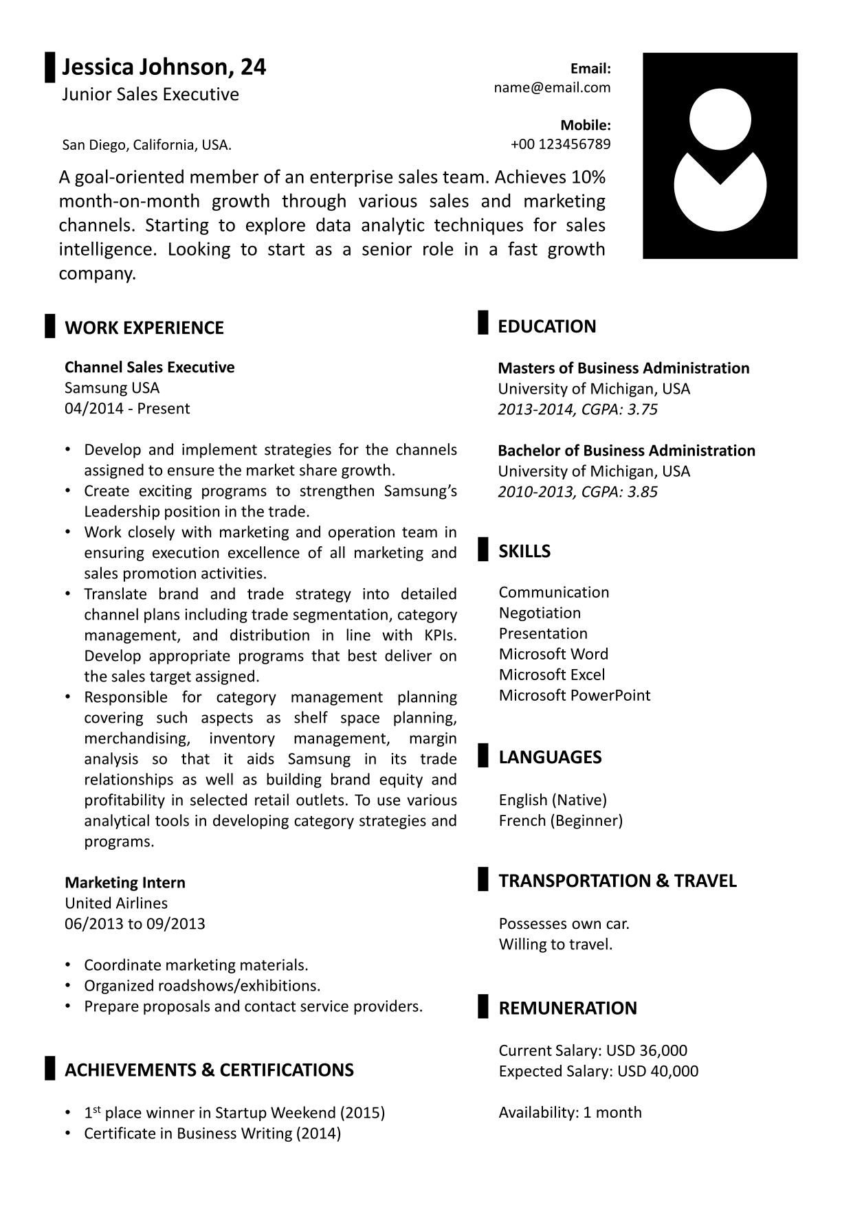 JessicaS Resume Template  Gy Resume