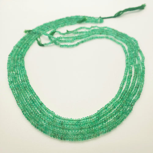 Emerald Smooth Roundel Beads 2-3mm