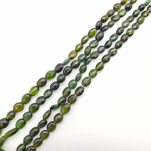 Chrome (Green) Tourmaline Smooth Oval 5x7mm Beads