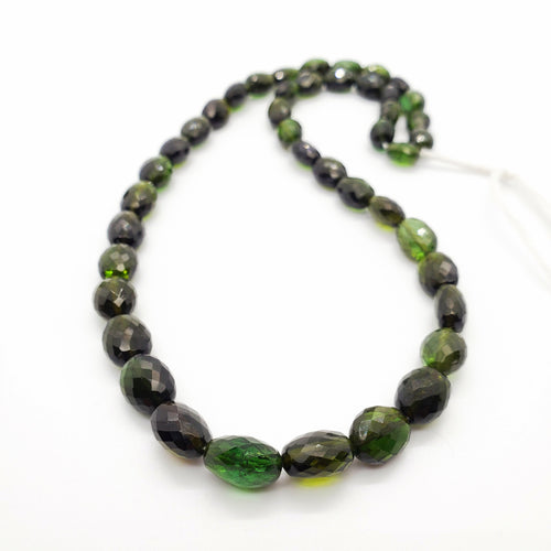 Chrome (Green) Tourmaline Faceted Oval 7x9 - 9x11mm Beads