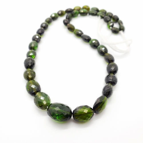 Chrome (Green) Tourmaline Faceted Oval 6x8 - 10x12mm Beads